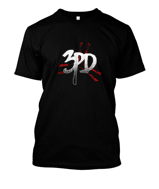 3PD Black t-shirt